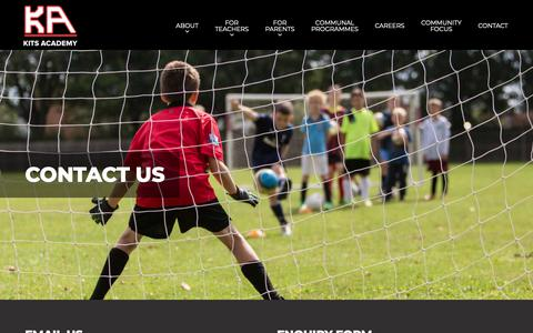 Screenshot of Contact Page kitsacademy.com - Kits Academy | Contact Us - captured Nov. 22, 2018