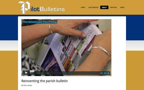 Screenshot of About Page pilotbulletins.net - About - captured Oct. 2, 2014