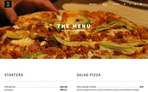 Screenshot of Menu Page 86public.co.za - Menu | 86 Public - captured Sept. 29, 2015