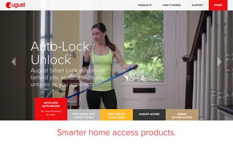 Screenshot of Home Page august.com - August Smart Locks and Wifi Doorbell Camera - captured Dec. 18, 2015