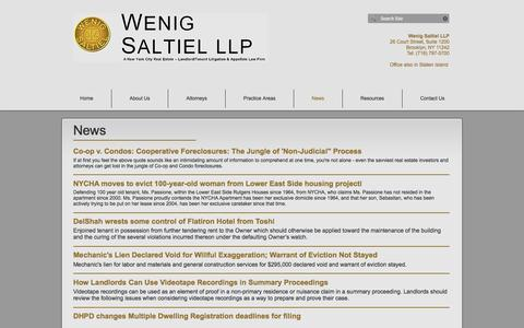 Screenshot of Press Page wenigsaltiel.com - Wenig Saltiel LLP | News - captured Dec. 3, 2016