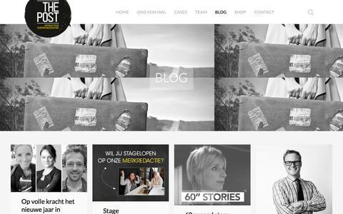 Screenshot of Blog thepost.nl - Inspiratie opdoen rondom contentmarketing? Lees ons blog - captured Jan. 11, 2016
