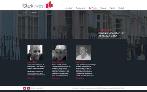 Screenshot of Team Page starkinvest.co.uk - Our People | Stark Invest - captured Sept. 21, 2018