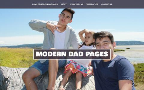 Screenshot of About Page moderndadpages.com - About - Modern Dad Pages - captured March 24, 2016