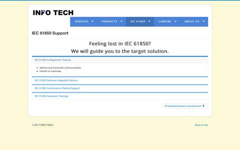 Screenshot of Support Page infotech.pl - Support - captured May 26, 2017