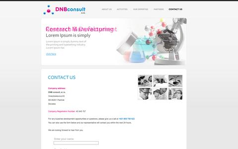 Screenshot of Home Page dnbconsult.com - DNB Consult s.r.o. - captured Oct. 5, 2014