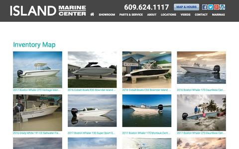 Screenshot of Site Map Page imboats.com - Inventorymap | Island Marine Center | Ocean View New Jersey - captured Nov. 26, 2016