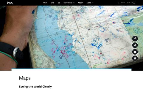 Screenshot of Maps & Directions Page imb.org - Maps - captured Nov. 4, 2019