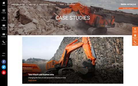 Screenshot of Case Studies Page tatahitachi.co.in - Tata Hitachi - captured Oct. 19, 2018