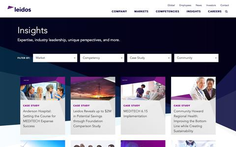 Screenshot of Case Studies Page leidos.com - Insights | Leidos - captured Nov. 6, 2018