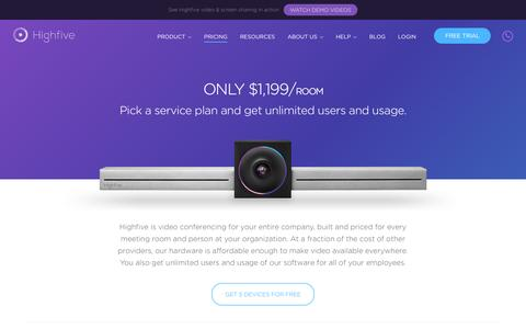 Easy-to-use and Affordable Video Conferencing   Highfive