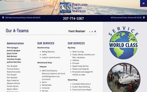 Screenshot of Team Page portlandyacht.com - Our Team | Portland Yacht Services Staff - captured Nov. 8, 2016