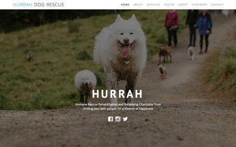 Screenshot of Home Page hurrah.org.nz - HURRAH Animal Rescue Charity - captured March 5, 2016