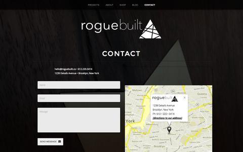 Screenshot of Contact Page roguebuilt.co - contact | roguebuilt - captured Sept. 30, 2014