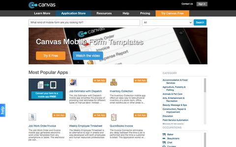 Mobile Business Apps and Forms on Android, iPad, iPhone - Canvas Application Store