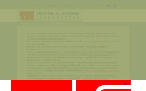 Screenshot of Press Page tsieda.com - Lab as a Service Cyber Ranges TSI USA  | News - captured Oct. 20, 2017