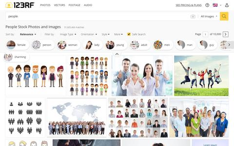Screenshot of Team Page 123rf.com - People Stock Photos And Images - 123RF - captured Feb. 14, 2019
