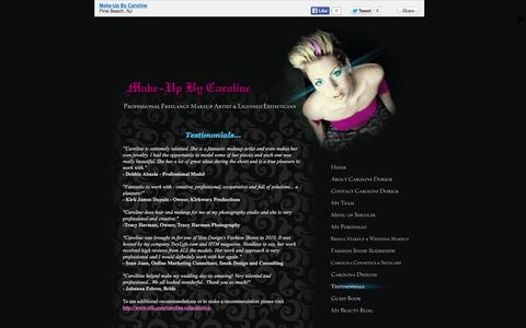 Screenshot of Testimonials Page make-upbycaroline.com - Make-Up By Caroline - Testimonials - Pine Beach, NJ - captured Sept. 30, 2014