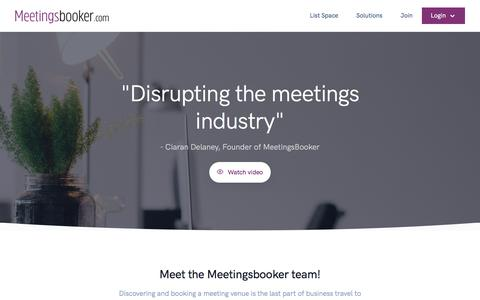 Screenshot of About Page meetingsbooker.com - About Us - Driving the global digitalisation of meeting room reservations - Meetingsbooker.com - captured Aug. 15, 2019