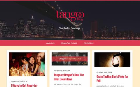 Screenshot of Blog tangoo.ca - Tangoo Blog - captured Nov. 5, 2014