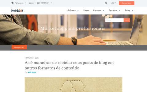 Screenshot of Blog hubspot.com - Blog HubSpot Brasil - captured Oct. 24, 2017