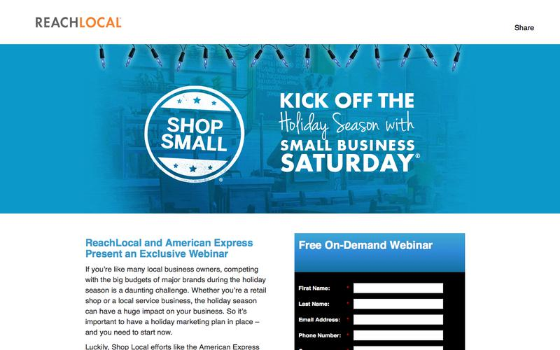 Free Webinar: Kick Off the Holiday Season with Small Business Saturday