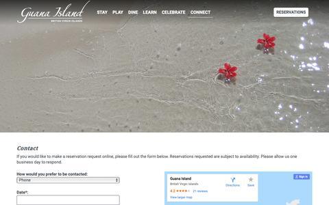 Screenshot of Contact Page guana.com - Contact - captured Sept. 30, 2018
