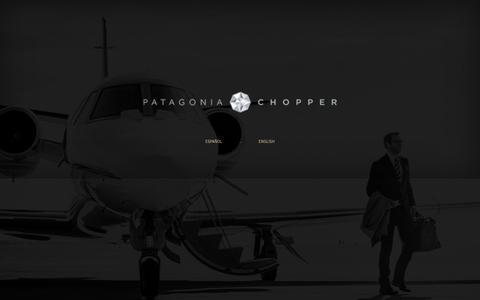 Screenshot of Home Page patagoniachopper.com - Patagonia Chopper - captured Nov. 26, 2018