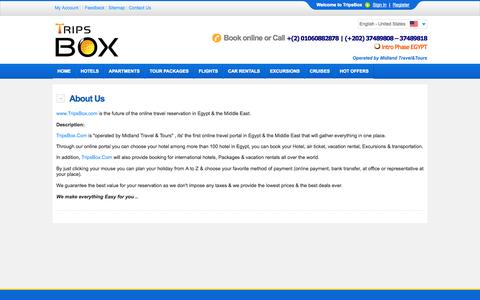 Screenshot of About Page tripsbox.com - About TripsBox - captured Oct. 26, 2014