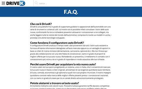 Screenshot of FAQ Page drivek.it - F.A.Q. Drivek.it - Le risposte alle domande di chi cerca auto - captured July 3, 2016