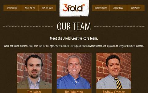 Screenshot of Team Page 3foldx.com - Our Team - 3Fold Creative - captured Feb. 9, 2016