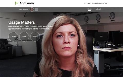 Screenshot of Home Page applearn.tv - AppLearn | www.applearn.tv - captured Feb. 6, 2016