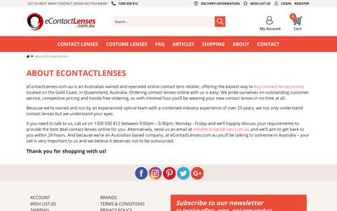 Screenshot of About Page econtactlenses.com.au - About eContactLenses - captured Sept. 30, 2018