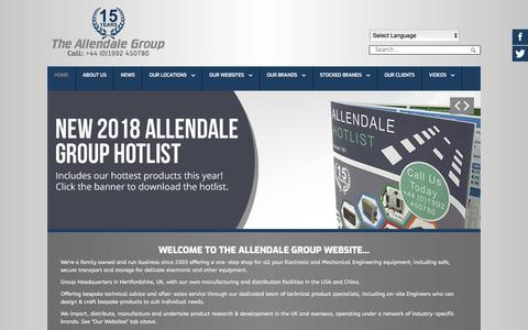 Screenshot of Home Page allendale-group.co.uk - The Allendale Group Corporate Website - captured July 29, 2018