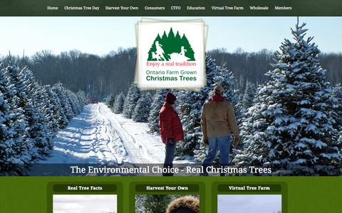 Screenshot of Home Page christmastrees.on.ca - Real Christmas Trees - captured Sept. 20, 2015