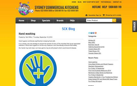 Screenshot of Blog sydneycommercialkitchens.com.au - Sydney Commercial Kitchens Blog - captured Sept. 22, 2014