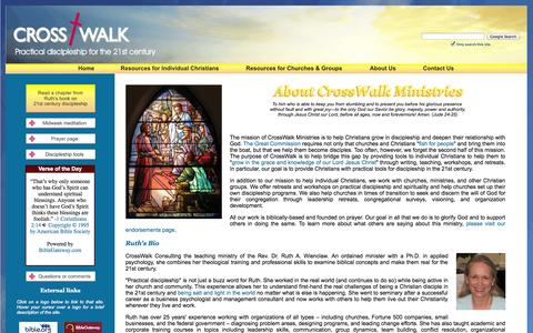 Screenshot of About Page crosswalkconsulting.com - CrossWalk Consulting - practical discipleship for the 21st century – discipleship training, church growth consulting, retreats and workshops - captured Sept. 30, 2014