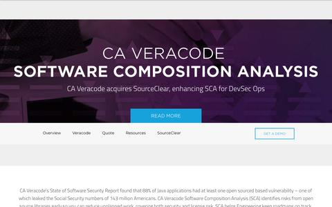 Software Composition Analysis | Veracode