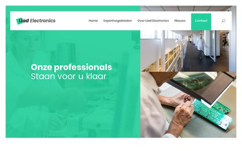 Screenshot of Contact Page liad.nl - Contact – Liad Electronics - captured Sept. 28, 2018