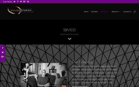 Screenshot of Services Page pulsestudios.com - Services | PulseStudios, Inc. - captured Sept. 30, 2018