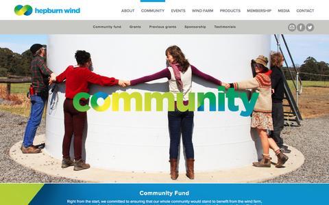 Screenshot of Testimonials Page hepburnwind.com.au - Community - Hepburn Wind - captured Nov. 7, 2016