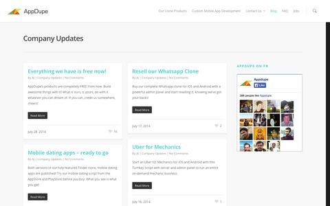 Company Updates | AppDupe