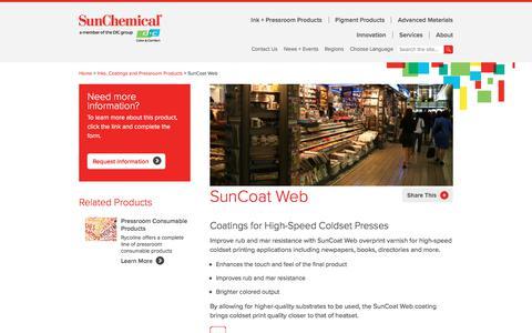 Web Coating | SunCoat | Sun Chemical