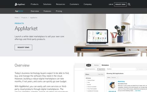 Screenshot of Products Page appdirect.com - AppMarket - AppDirect - captured June 22, 2018