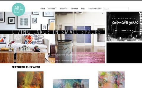 Screenshot of Home Page artloft.co - Art Loft - Home to Asian Art - captured Sept. 11, 2014