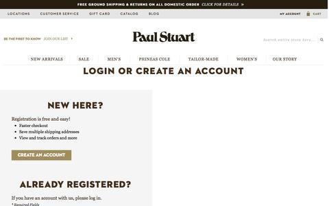Screenshot of Login Page paulstuart.com - Customer Login - captured Dec. 8, 2015