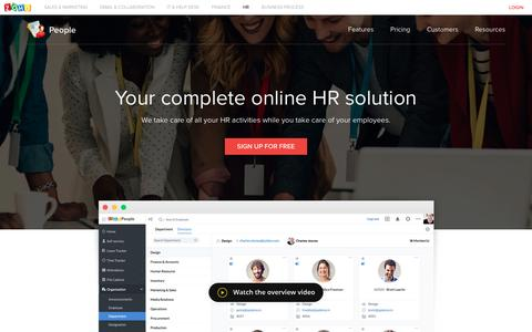 Screenshot of Team Page zoho.com - HR Software Solutions | HR System | HRIS - Zoho People - captured May 29, 2017