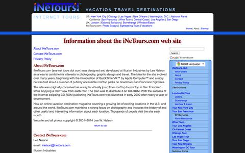 Screenshot of Privacy Page inetours.com - Information about the iNeTours.com web site - captured Nov. 3, 2014