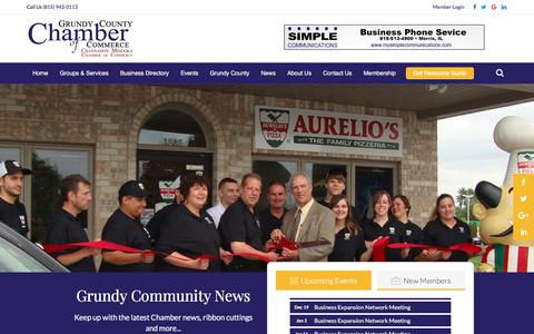 Screenshot of Press Page grundychamber.com - Local News | Grundy County Chamber of Commerce - captured Sept. 23, 2017