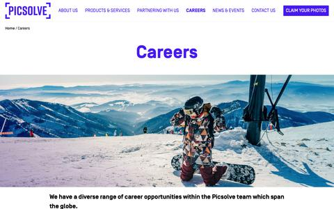 Screenshot of Jobs Page picsolve.biz - Careers | Picsolve - captured Sept. 28, 2018